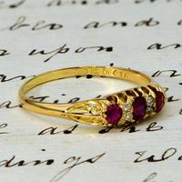 The Antique Late Victorian 1900 Ruby & Diamond Ring (3 of 4)
