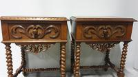Pair of French Walnut Bedside Lamp Tables (8 of 10)
