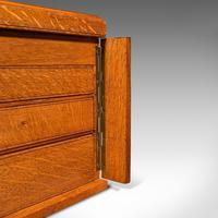 Antique Collector's Specimen Case, English, Oak, Chest, Jewellery Box, Edwardian (11 of 12)