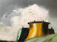 Oil Painting Railway Train Engine Princess Margaret 4056 Signed Ken Allsebrook (16 of 30)