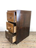 Early 20th Century Antique Oak Three Drawer Filing Cabinet (7 of 11)