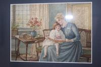 Antique Original Watercolour - Twin Interior Scenes - Mary Sophia Godlee 1860-1932 (5 of 5)