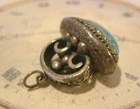 Vintage Pocket Watch Chain Fob 1950 Large Silver Nickel Victorian Revival Fob (2 of 6)
