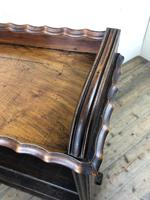 Victorian Walnut Open Bookcase with Gallery Top (4 of 11)