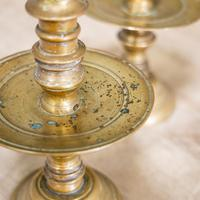 Pair of 17th Century Brass Candlesticks (5 of 10)