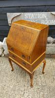 Lovely Antique Design Burr Walnut Bureau (5 of 9)