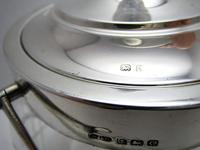 Hallmarked 1927 Solid Sterling Silver Mounted & Cut Glass Biscuit Barrel Cookie Jar Box Container (5 of 9)
