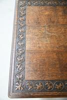 Arts & Crafts Carved Oak Drop Leaf Table (4 of 12)