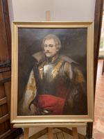 Military Officer In Armour Oil Portrait Painting On Canvas (10 of 10)