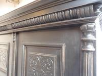 A Trendy Victorian Black 1 Piece 2 Door Antique/Old Pine Extra Large Wardrobe (4 of 9)