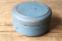 Scandinavian / Swedish 'Folk Art' original blue painted wooden storage Gustavian period, 1802 (3 of 15)