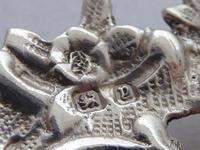 Victorian Maternity 1898 Hallmarked Solid Silver Nurses Belt Buckle (7 of 8)