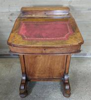 Antique 19th Century Walnut Inlaid Davenport Desk (5 of 11)