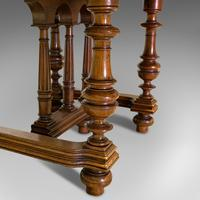Large Antique Extending Dining Table, French, Walnut, Seats 4-10 c.1900 (4 of 12)