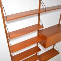 Danish Teak Vintage PS Wall System Bookcase Cabinet (6 of 6)