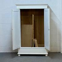 Small Double Painted Old Pine Wardrobe - Dismantles (2 of 4)