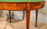 19th Century Kingwood & Satinwood Demi-lune Card Table (7 of 7)