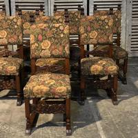Set of 8 French Oak Dining Chairs (9 of 18)