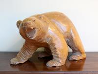 1950s Japanese Wooden Bear Sculpture (5 of 5)