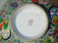 Antique Chinese Porcelain Bowl with Butterflies Famille Rose (6 of 12)
