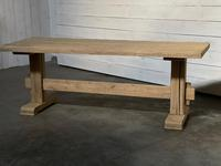 Primitive French Bleached Oak Farmhouse Dining Table (11 of 20)