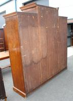 1900's Large Well Fitted Burr Walnut Compactum Wardrobe (7 of 7)
