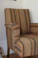Antique Oak Legged  Afghan Kelim Covered Chair (3 of 10)