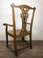Pair of 19th Century Chippendale Style North Country Armchairs (2 of 10)