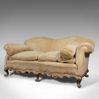 Antique 2 Seat Sofa, French, Textile, Beech, Settee, C.1900 (3 of 12)