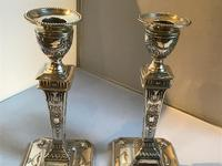 Fine Pair Solid Silver Victorian Candlesticks (4 of 7)