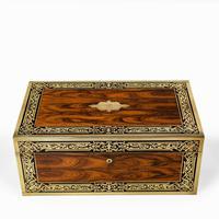 Superb William IV Brass Inlaid Kingwood Writing Box by Edwards (7 of 17)