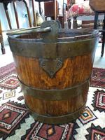 Coopered Brass Bound Peat Bucket (2 of 5)