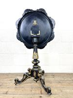 Antique Lacquered and Inlaid Chess Table (9 of 10)