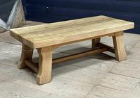 French or Scandinavian Bleached Oak Coffee Table (13 of 15)