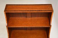 Antique Inlaid Mahogany Cascading Open Bookcase (4 of 9)