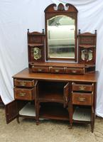 1920's Mahogany Dressing Table with Well Carved Panels (2 of 3)