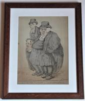 Original 18th Century Print by Robert Dighton, A Master Parson and His Journeyman, 1812