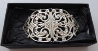 Rare Victorian 1900 Hallmarked Solid Silver Nurses Belt Buckle Elkington & Co (2 of 7)
