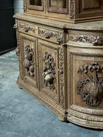 Magnificent French Carved Oak Hunting Sideboard (3 of 23)
