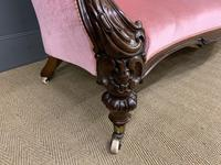Large Victorian Carved Rosewood Settee (6 of 12)