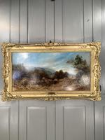 Antique Victorian landscape oil painting entitled Lunch Time by PG Hewett (11 of 11)