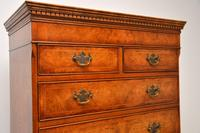 Antique Burr Elm Chest on Chest of Drawers (8 of 10)