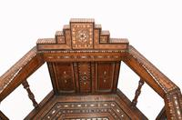Arabic Chair Antique Damascan Furniture Inlay 1920 (3 of 10)