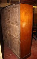 1920s Large 3 Door Mirrored Mahogany Maple and Co Wardrobe (3 of 8)
