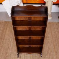 Carved Oak Open Bookcase Bookshelves (3 of 8)