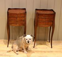 Pair of Mahogany Inlaid Bedside Cabinets (6 of 10)
