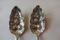 Pair of Exeter Silver Georgian Berry Spoons, 1806 (5 of 8)