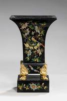 Pair of Mid 19th Century Tole Vases (4 of 6)