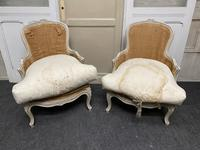 Pair of French Bergere Chairs Original Finish (2 of 14)