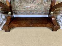 Regency Burr Walnut Console Table with Marble Top (6 of 9)